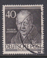 Germany Berlin 1953 Portraits 40pf Von Humboldt, Used - [5] Berlin