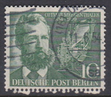 Germany Berlin 1954 Ottmar Mergenthales Used - [5] Berlin