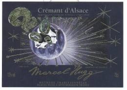 Etiquette De Vin  -  Crémant D'Alsace  - Cuvée Spéciale An 2000 - Marcel Hugg  à Bergheim  (68) - Année 2000