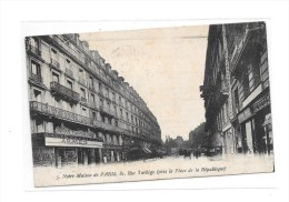 75 - PARIS 3 Ième Arrondissement : Consortium De Fabricants D'Armes Et L' ABEILLE Réunis, Carte Publicitaire Rue Turbigo - Paris (03)