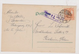 ALLEMAGNE  //  POSTKARTE  //  DE SPANDAU  //   POUR RIXHEIM  //27/8/1917  //  CACHET CENSURE - Stamped Stationery