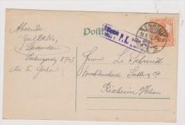 ALLEMAGNE  //  POSTKARTE  //  DE SPANDAU  //   POUR RIXHEIM  //27/8/1917  //  CACHET CENSURE - Ganzsachen