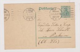 ALLEMAGNE  //  POSTKARTE  //  DE METZ   //   POUR RIXHEIM  // 23/1/1913  // - Stamped Stationery