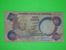 Nigeria,five Naira,5,banknote,paper Money,bill,geld - Nigeria