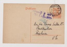 ALLEMAGNE  //  POSTKARTE  //  DE STRASBOURG  //   POUR RIXHEIM  // 18/12/1917  // CACHET CENSURE - Stamped Stationery