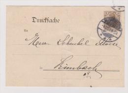 ALLEMAGNE  //  BUCHER-ZETTEL   //  DE COLMAR  //   POUR RIXHEIM  // 14/6/1916  // CACHET CENSURE - Ganzsachen