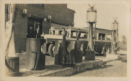 Real Photo Gas Station Sinclair Oil With Bus Atlantic City New York Baltimore - Etats-Unis