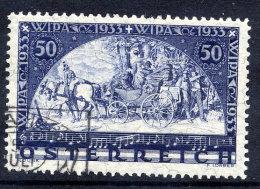 AUSTRIA 1933 WIPA Exhibition Granite Paper Used, With Certificate.  Michel 556. - 1918-1945 1st Republic