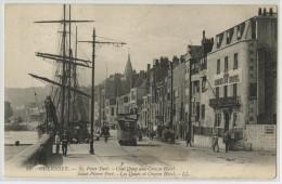 GRANDE BRETAGNE - ILES DE LA MANCHE - GUERNSEY - SAINT PIERRE PORT - LES QUAIS ET CROWN HOTEL - Guernsey