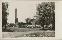 Real Photo   Homer Pet Milk Co. Trucks American Cars - Etats-Unis