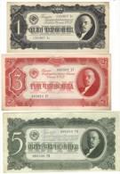 RUSSIA , 1 , 3 , 5  CHERVONETZ 1937 - Russia