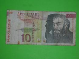 Slovenia,deset Tolarjev,10,banknote,paper Money,bill,geld - Slovénie