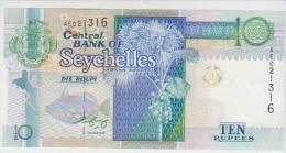 Seychelles 10 Rupees 1998 Pick 36b UNC - Seychelles