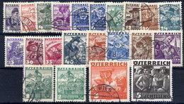 AUSTRIA 1934 Definitive Set Used.   Michel 567-87. - 1918-1945 1st Republic