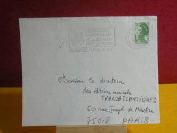 Flamme + Timbre - 29 Finistère, Quimper, Festival De Cornouaille - 22.5.1989 - Marcophilie (Lettres)