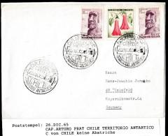 ANTARCTIC, CHILE, Base CAP. ARTURO PRAT,3 Markings  26.DIC 1965, Look Scan !!  1.12-41 - Antarktis-Expeditionen