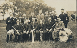 Real Photo Olneyville Rhode Island Belgian Social Club Band Belgium Belgique - Etats-Unis