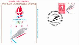 COURCHEVEL (73), XVI èmes Jeux Olympiques D´Hiver, Albertville 92, Saut, 22/12/1990 - 1990-1999