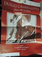 MANIFESTO ORIGINALE DUILIO CAMBELLOTTI OPERA DALL´ARCHIVIO RAGUSA CASTELLO DI DONNAFUGATA 2003 (TARGA FLORIO) - Altre Collezioni