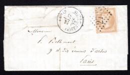 GUERRE / 28 SEPT 1870 - LAC  DE PARIS POUR PARIS - N° 28 OBL GC 2793 - - Marcophilie (Lettres)