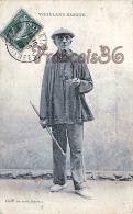 (64) Scènes Et Types Basques - Biarritz - Vieillard Basque -  Makhilla - Makila - Makhila - 2 SCANS - Biarritz