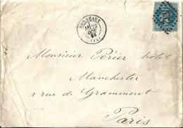 Enveloppe   -  Cachet  Au  Départ  De  Bordeaux    -  Direction    Paris - Postmark Collection (Covers)