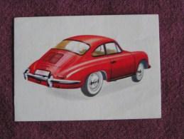PORSCHE COUPE  Chromo Auto 1962 Chocolat Jacques Eupen Automobile Trading Card Chromos Vignette - Jacques