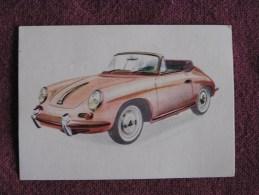 PORSCHE CABRIOLET  Chromo Auto 1962 Chocolat Jacques Eupen Automobile Trading Card Chromos Vignette - Jacques