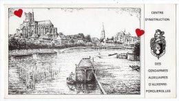 ZE-89-Auxerre: Les Bords De L' Yonne--------Centre D'Instruction Des Gendarmes Auxiliaires D'Auxette-Porquerolles - Auxerre