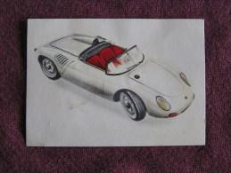 PORSCHE SPYDER RSK Chromo Auto 1962 Chocolat Jacques Eupen Automobile Trading Card Chromos Vignette - Jacques