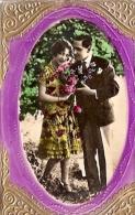 RARISSIME POSTCARD GAUFREE GOLD 3.D AVEC RELIEF ARTISTIQUE HAND MADE COLOR CIRCULEE 1933 TO JUNIN, ARGENTINA GECKO - Koppels