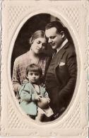 RARISSIME FAMILY FAMILIA POSTCARD GAUFREE TEXTURADA TEXTURED AVEC RELIEF ARTISTIQUE VOYAGÉE CIRCA 1900 RARISSIME GECKO - Koppels