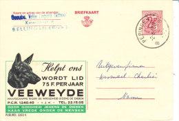 Animaux, Chien , Belgique, Entier Postal Pub Veeweyde 1968 - Hunde