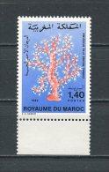 MAROC 1982  N° 935 ** Neuf = MNH Superbe Cote 2.50 € Corail Faune Marine Marine Fauna - Marocco (1956-...)