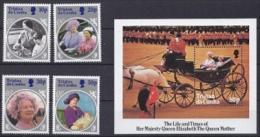 Tristan Da Cunha 1985 The Life & TRiumes Of Queen Elizabeth The Queen Mother 4v + M/s ** Mnh (18576) - Tristan Da Cunha