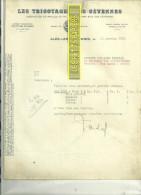 30 - Gard - ALES - Facture LES TRICOTAGES DES CEVENNES – 1937 - REF C1 - France
