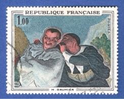 1966  N° 1494  CRISPIN ET SCAPIN DE DAUMIER  OBLITÉRÉ - Plaatfouten En Curiosa