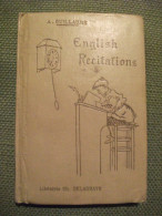 English Recitations For The Lower Forms De Guillaume Illustrated 1906 - Enfants