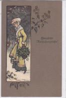 CARD LOTTO 5 CARDS BUON ANNO FIRMA PARKINSON ETHEL DONNINE ELEGANTI M.M.VIENNE Nr 310 FP-N-2 -0882-22344-345-346-347-348 - Parkinson, Ethel