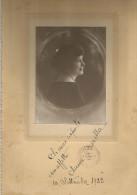 Borella Anna, Dedica Autografa Su Fotografia Roma 10. 9. 1922, Cm. 21 X 32. Patronato Nazionale Orfani Di Guerra - Foto Dedicate