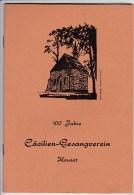 Festschrift, 100 Jahre CÄCILIEN-GESANGVEREIN HAUSET Aus 1975 - Historische Dokumente