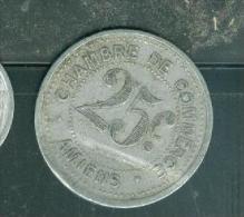 CHAMBRE DE COMMERCE AMIENS 25 C 1920. - Pia8703 - Notgeld