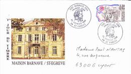 SAINT EGREVE (38),  Maison BARNAVE, Antoine BARNAVE, Révolutionnaire, Enveloppe FDC (voyagé) 25/02/1989 - FDC