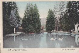 Allemagne - Bad Langenschwalbach - Am Kurparkweiher - Correspondance Militaire 1919 - Rheingau