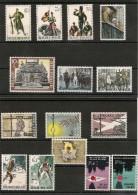 BELGIQUE Années 1960/71 Histoire N° 1293/97-1329/32-1474/77-1539/40 Tous**