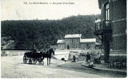 Belgique    LA REID  Le Pont et la Gare  avec  oblit�ration-griffe LA REID