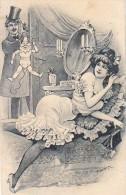 AK PAARE COUPLE COOPIE Marionette SIGNIERT KARTE KÜNSTLERKARTE ,.ALTE POSTKARTE VOR 1904 - Couples