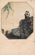 AK PAARE COUPLE COOPIE ART DECO ITALIEN  SIGNIERT KARTE KÜNSTLERKARTE ,.ALTE POSTKARTE 1923 - Couples