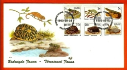 RSA, 1993, Mint First Day Cover, Nr. 6-1a+b+c, Endangered Animals, SACCnr(s) - FDC
