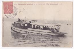De Dinard à Saint Malo Par Les Vedettes De La Côte D'Emeraude - Vedette à Moteur Sur Les Flots - Circulé 1906 - Ferries